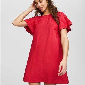 Ann Taylor Loft cross back red dress PXS